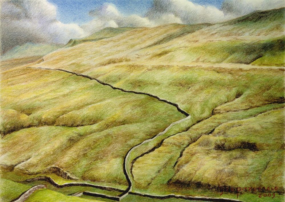 """North York Moor"" original fine art by Joe Fitzgerald"