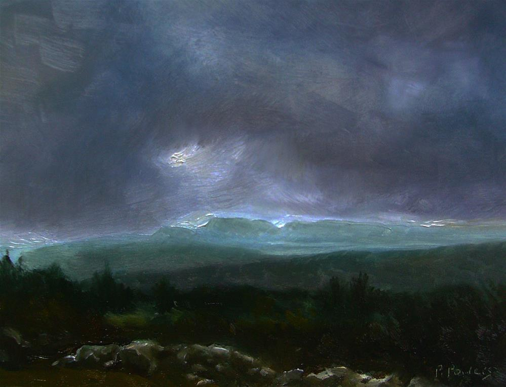 """Lifting Fog"" original fine art by Patricia J. Powers"