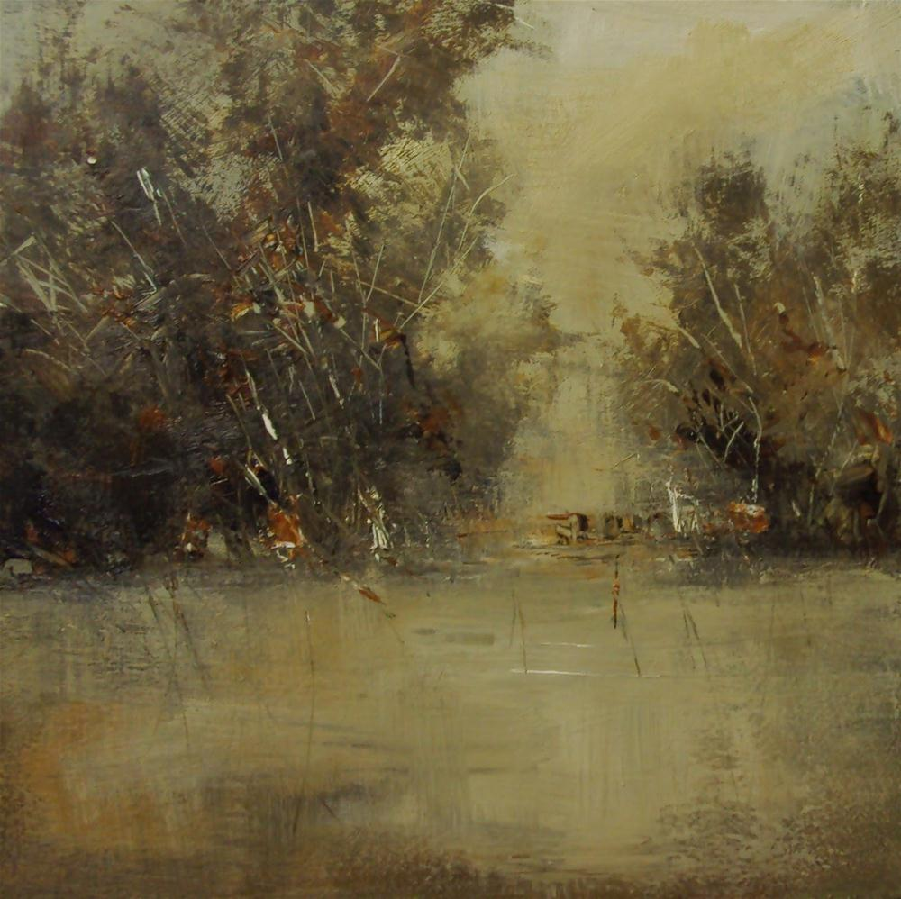 """""""flood in the village"""" original fine art by Parastoo Ganjei"""