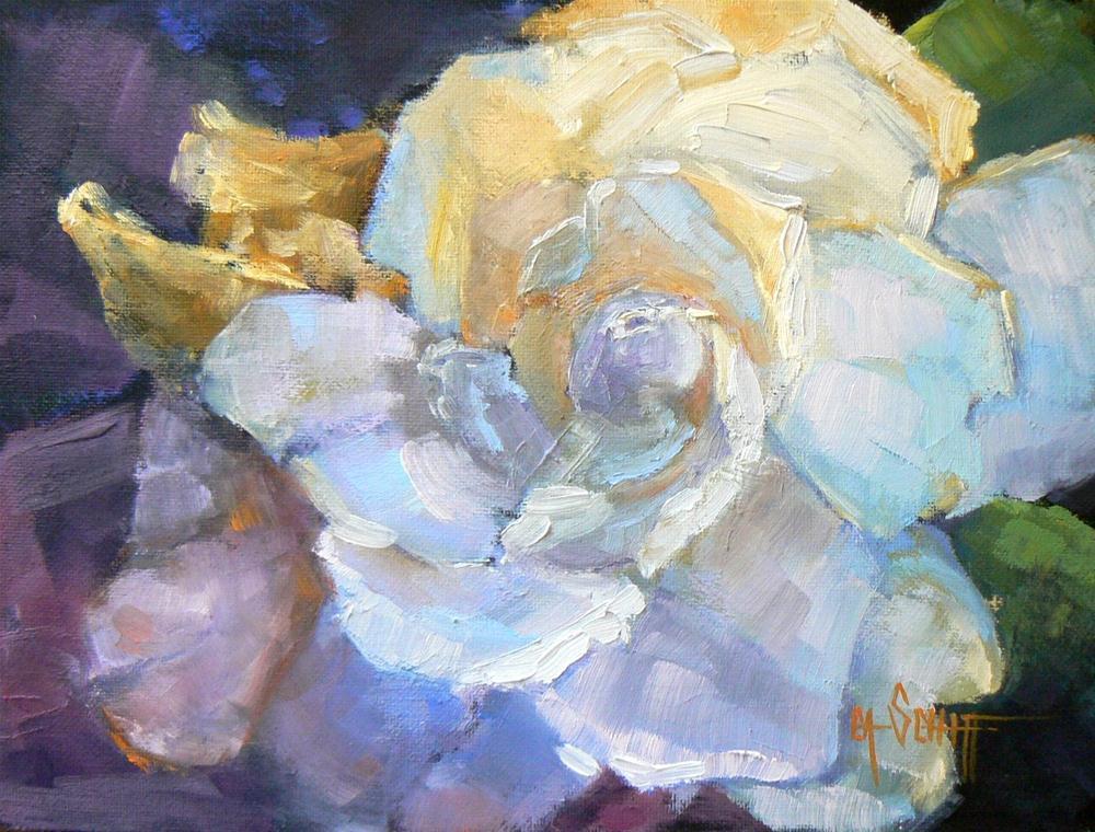 """Daily Painting, Floral, Gardenia"" original fine art by Carol Schiff"