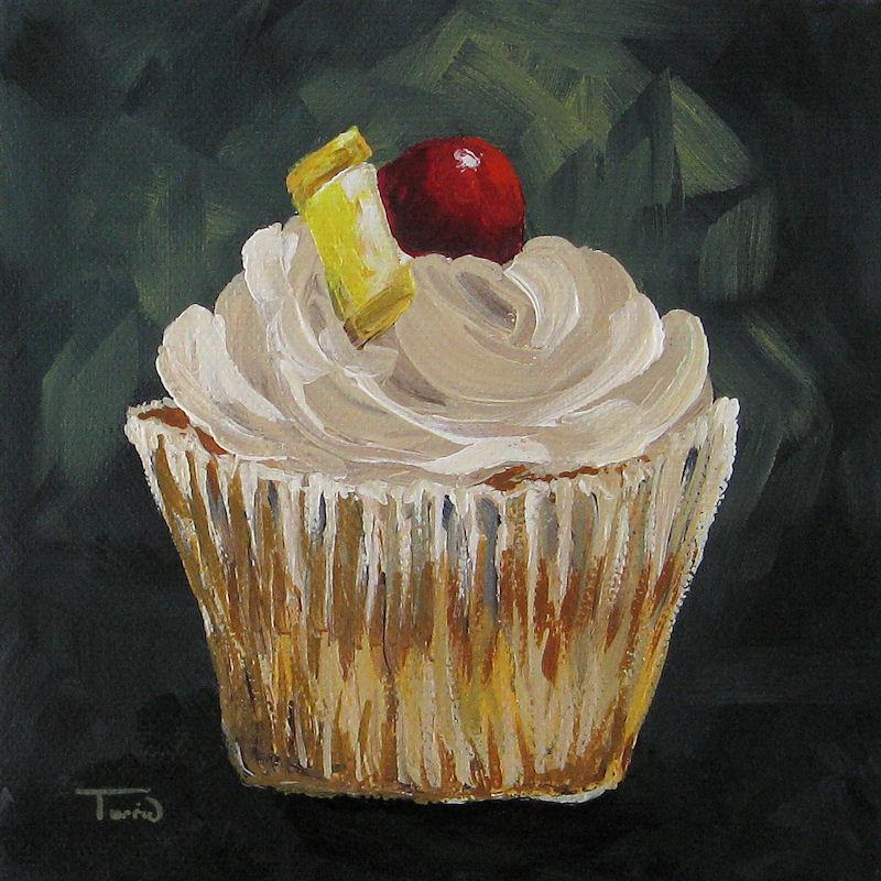 """""""Pineapple Upside Down Cupcake"""" original fine art by Torrie Smiley"""