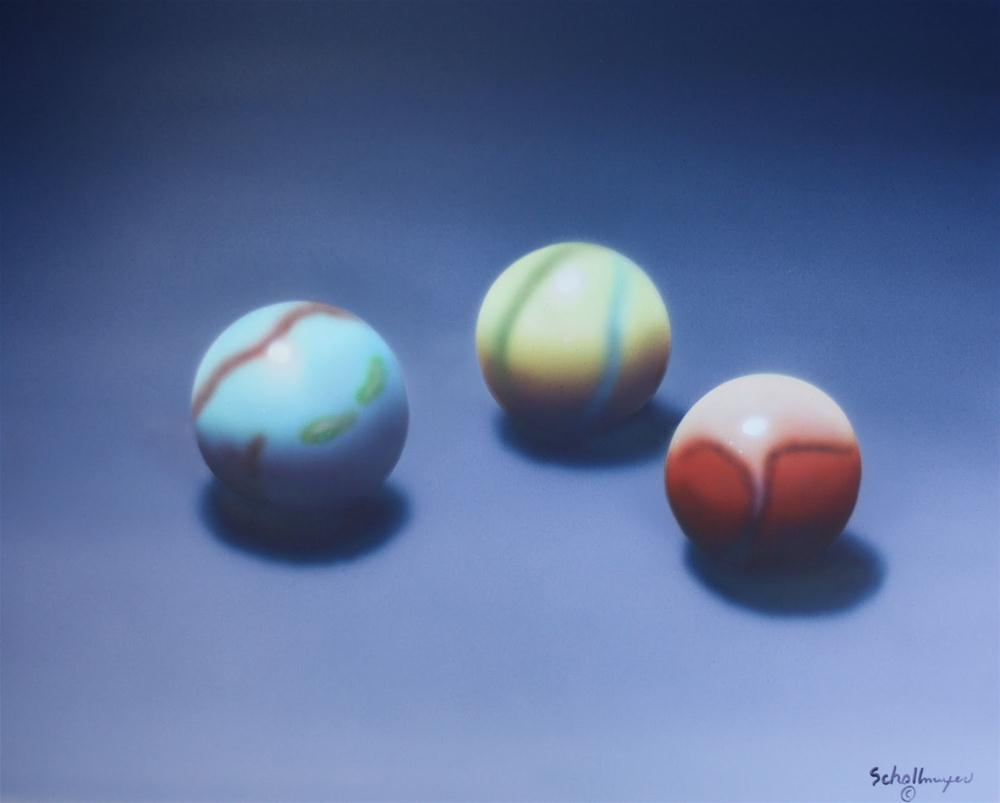 """Three for the Roll"" original fine art by Fred Schollmeyer"