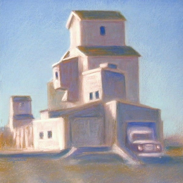 """Grain Elevator II"" original fine art by Carol Zirkle"
