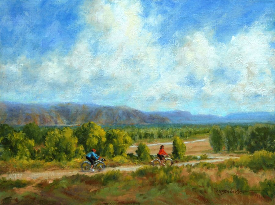 """THE BIKE RIDE"" original fine art by Dj Lanzendorfer"