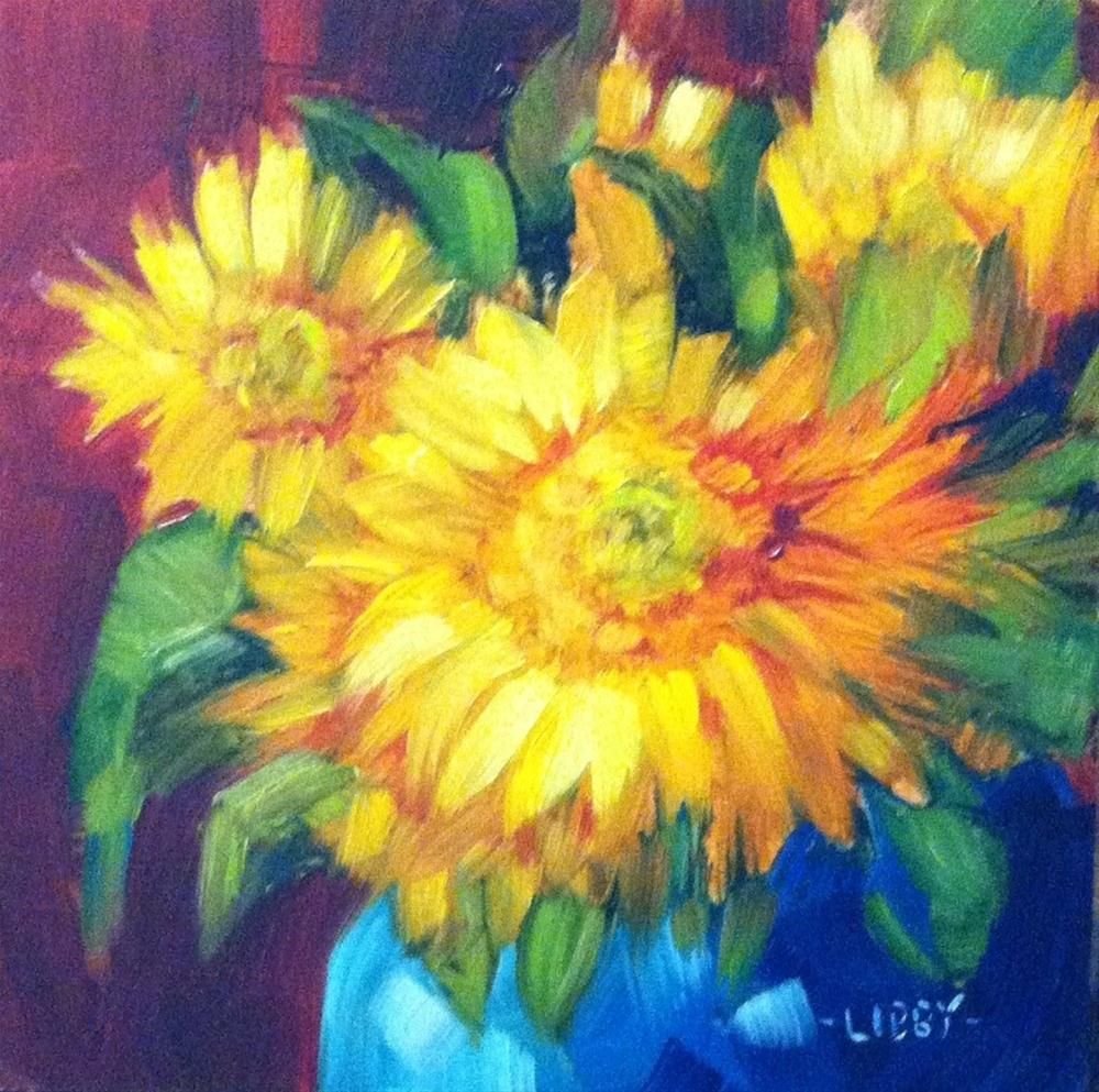 """Sun Lovers"" original fine art by Libby Anderson"
