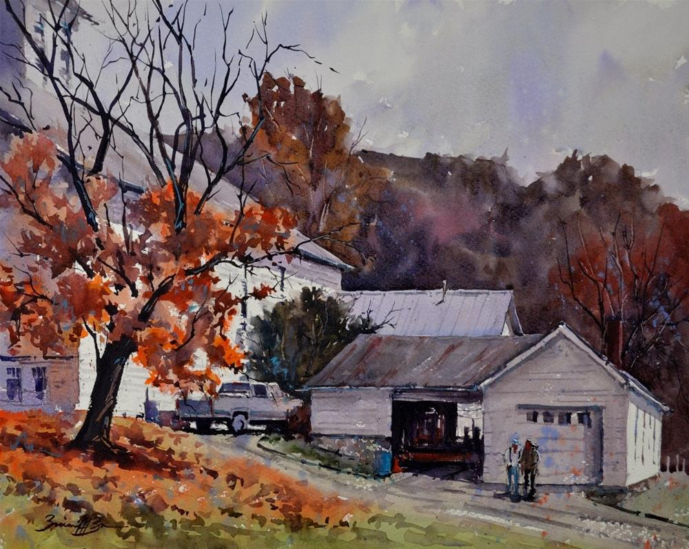"""Late Fall at Barree Forge"" original fine art by Brienne M Brown"