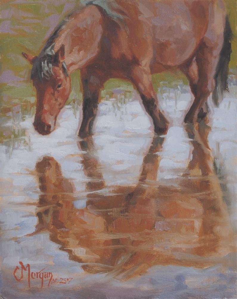 """""""Mirror, Mirror"""" original fine art by Cecile W. Morgan"""