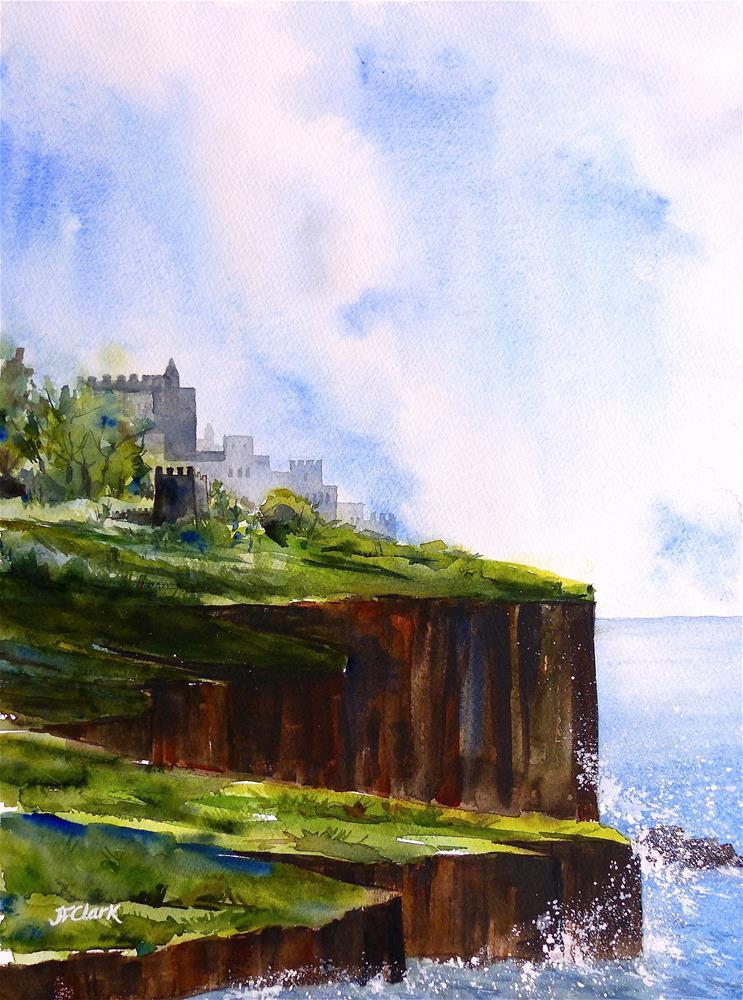 """""""Watchtower"""" original fine art by Judith Freeman Clark"""