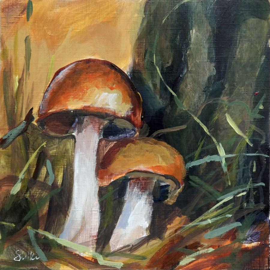 """""""1889 Mushroom Season 2"""" original fine art by Dietmar Stiller"""