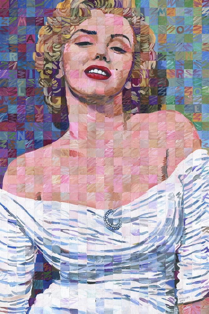 """""""Marilyn Monroe In White Dress"""" original fine art by Randal Huiskens"""