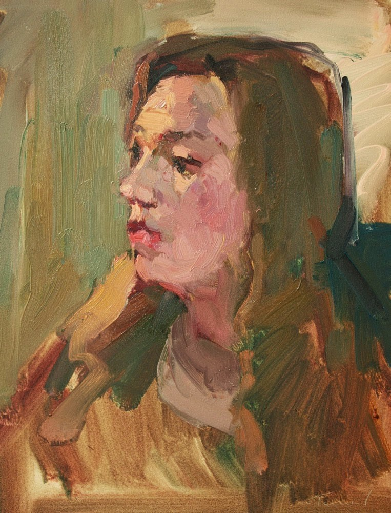 """Young Woman"" original fine art by Kathryn Townsend"