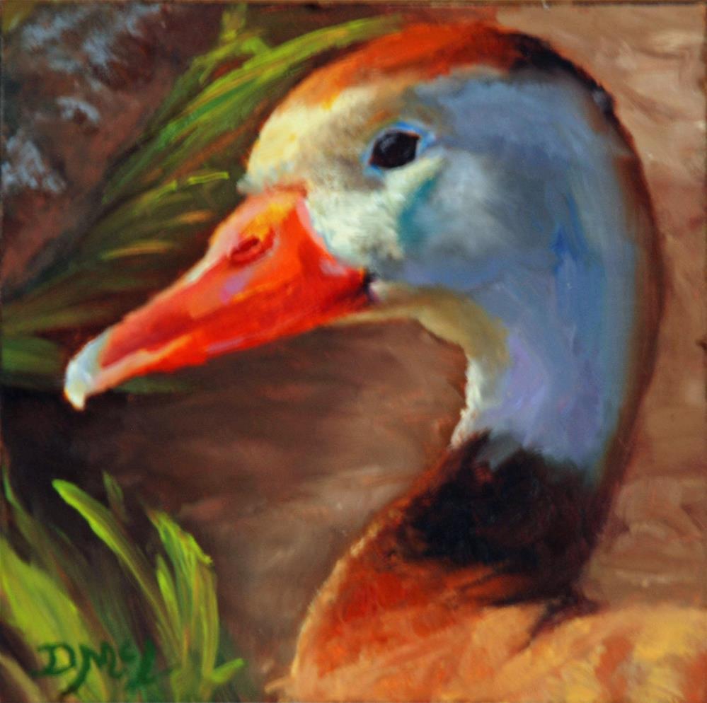 """""""Black Bellied Tree Duck"""" original fine art by Dorothy McLennan"""