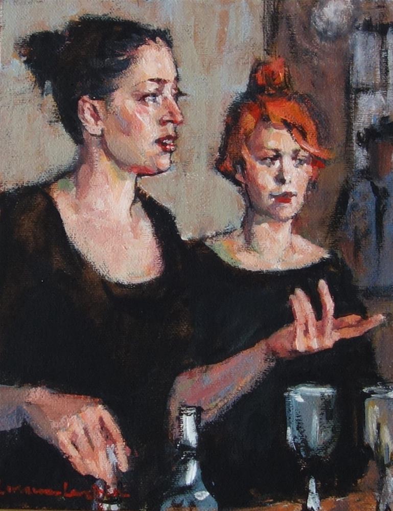 """Choosing Wine"" original fine art by Lorraine Lewitzka"