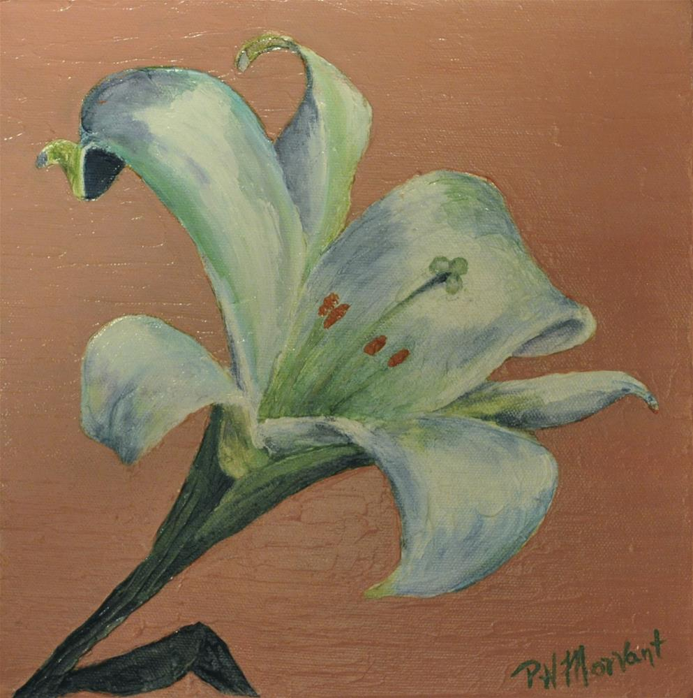 """Easter Lily"" original fine art by Peggy W Morvant"