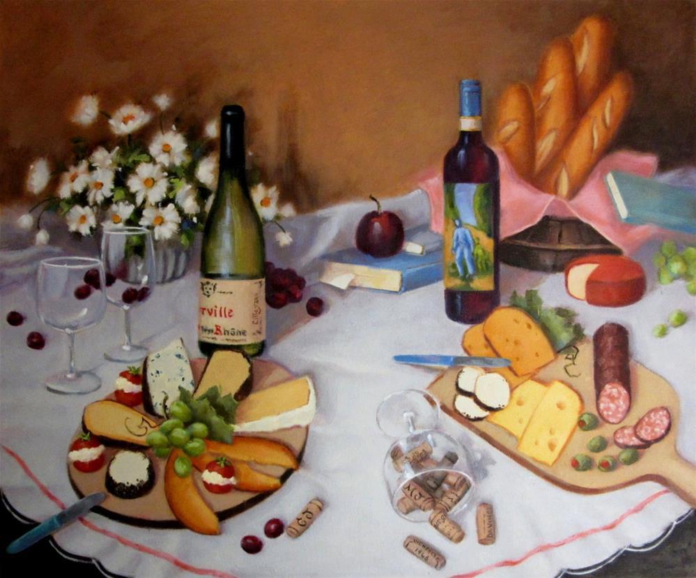 """Hospitality"" original fine art by Maresa Lilley"