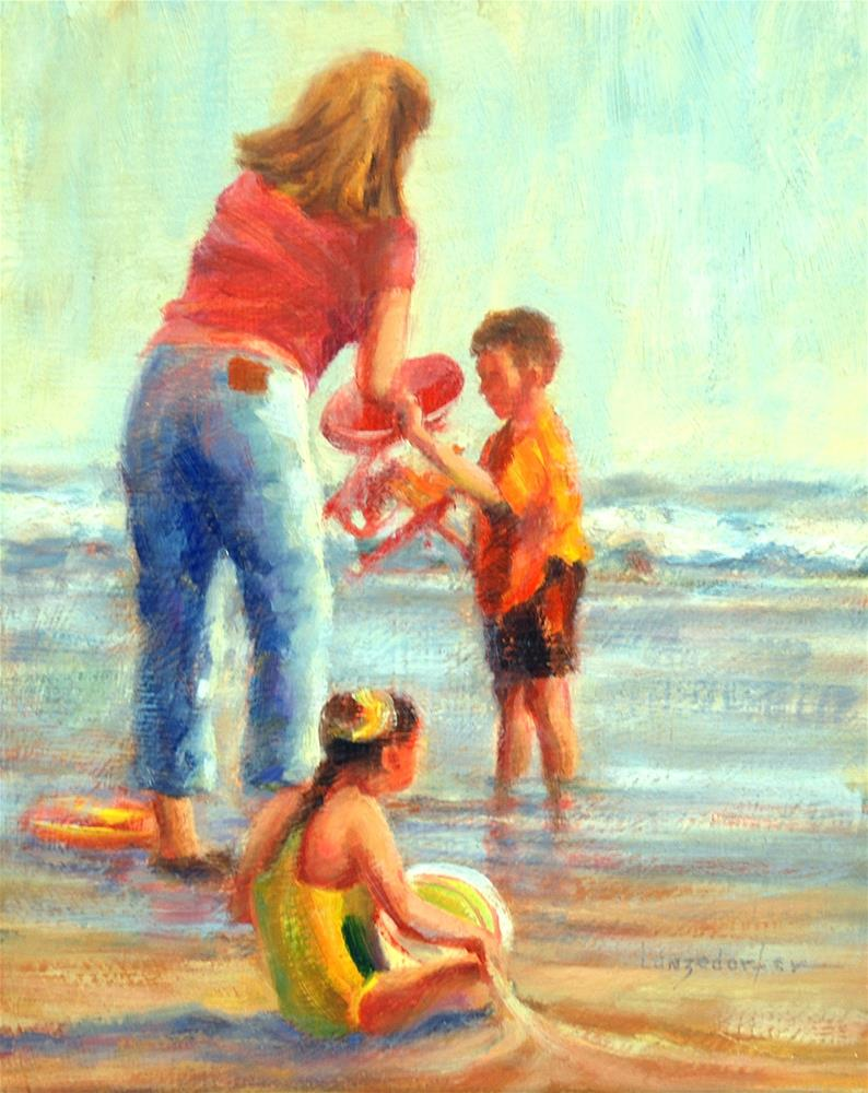 """DAY AT THE BEACH"" original fine art by Dj Lanzendorfer"