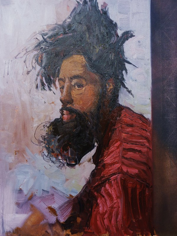 """The Face of Homelessness, Kings rd"" original fine art by Adebanji Alade"