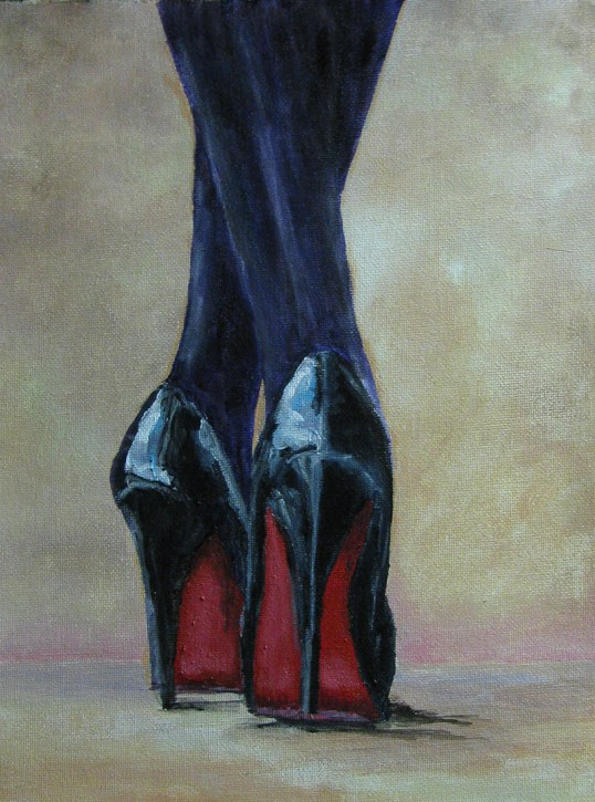 """Red Soles"" original fine art by Nan Johnson"