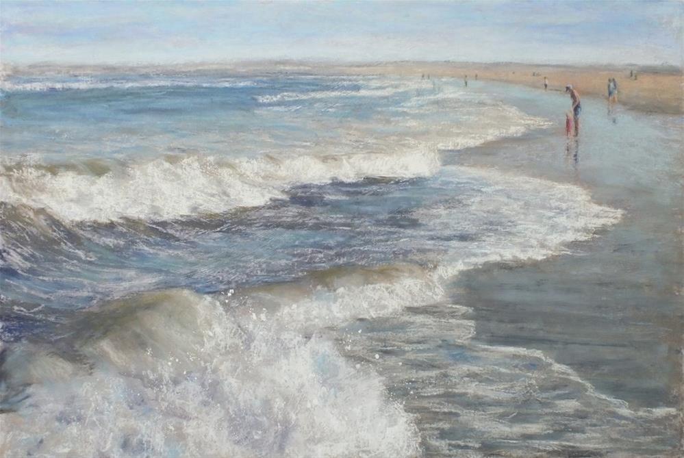 """Beach Day"" original fine art by Linee Baird"