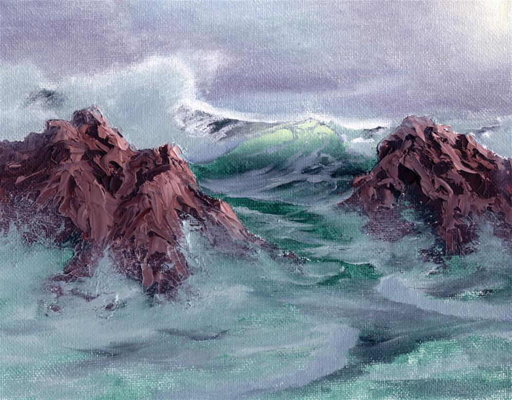 """Rocky Surf"" original fine art by Charlotte Light"