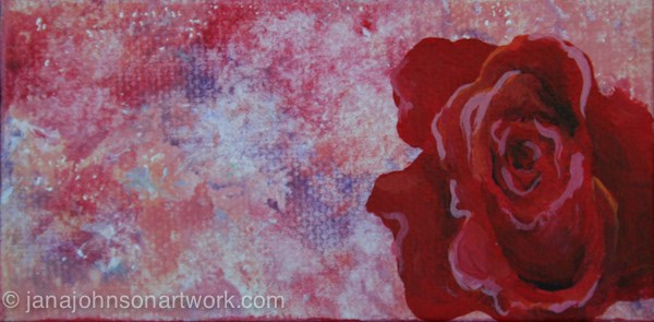 """Rose is a Rose"" original fine art by Jana Johnson"