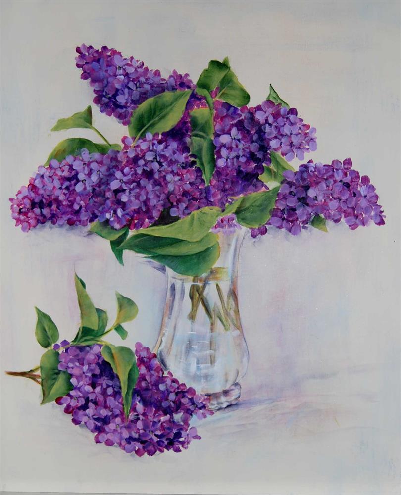"""""""Lilacs"""" original fine art by Maureen Baker"""