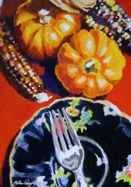 """Room for Pie"" original fine art by JoAnne Perez Robinson"