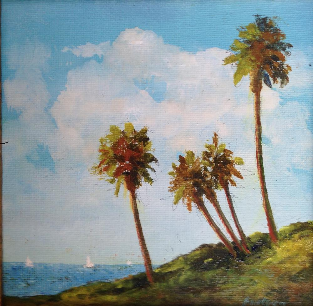 """""""Paradise palms"""" original fine art by Frank and Liangni Nelson"""