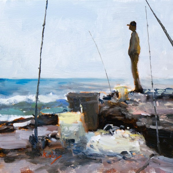 """Fishermans Way"" original fine art by Randall Cogburn"