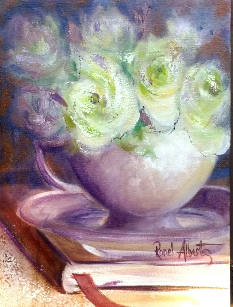 """tea time diary"" original fine art by Ronel Alberts"