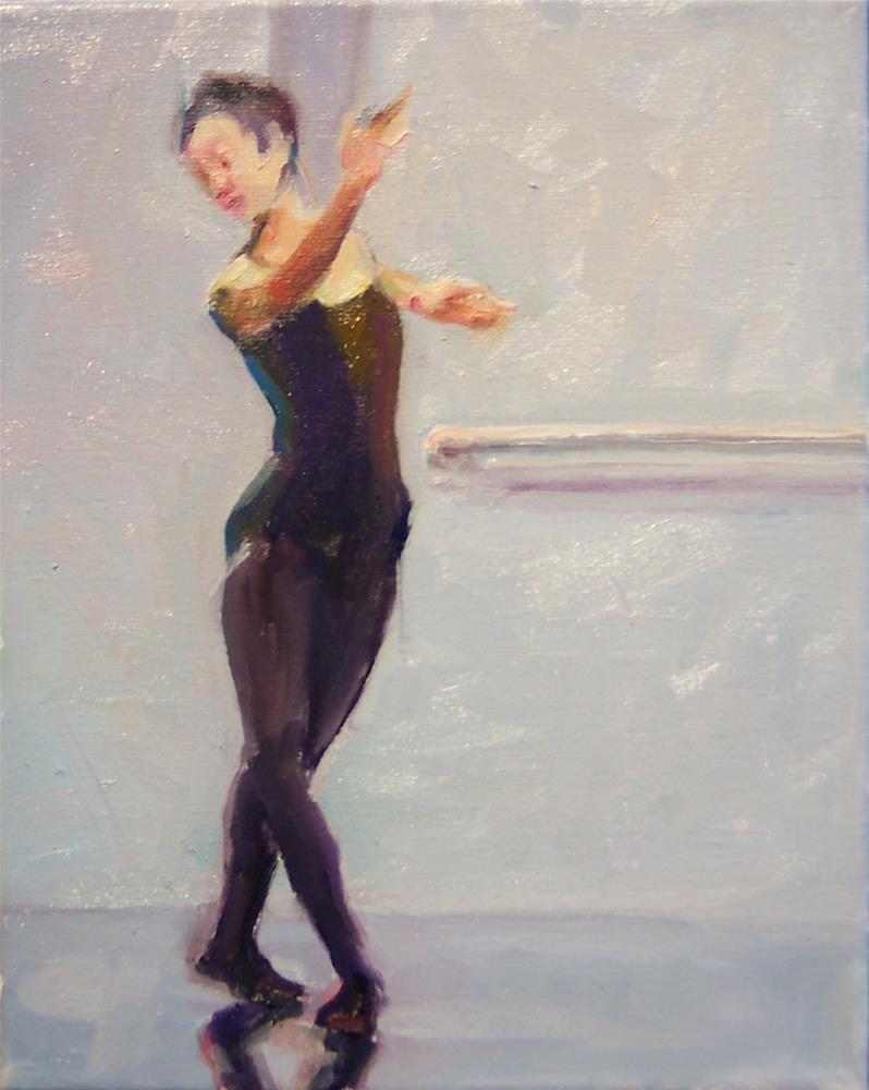 """Ballet Practise,figure,oil on canvas,10x8,$700"" original fine art by Joy Olney"