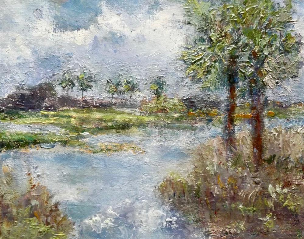 """Babcock Lake"" original fine art by Judy Usavage"
