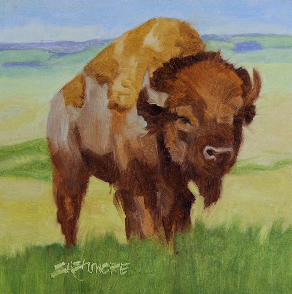 """''Where the Buffalo Roam''"" original fine art by Susan Ashmore"