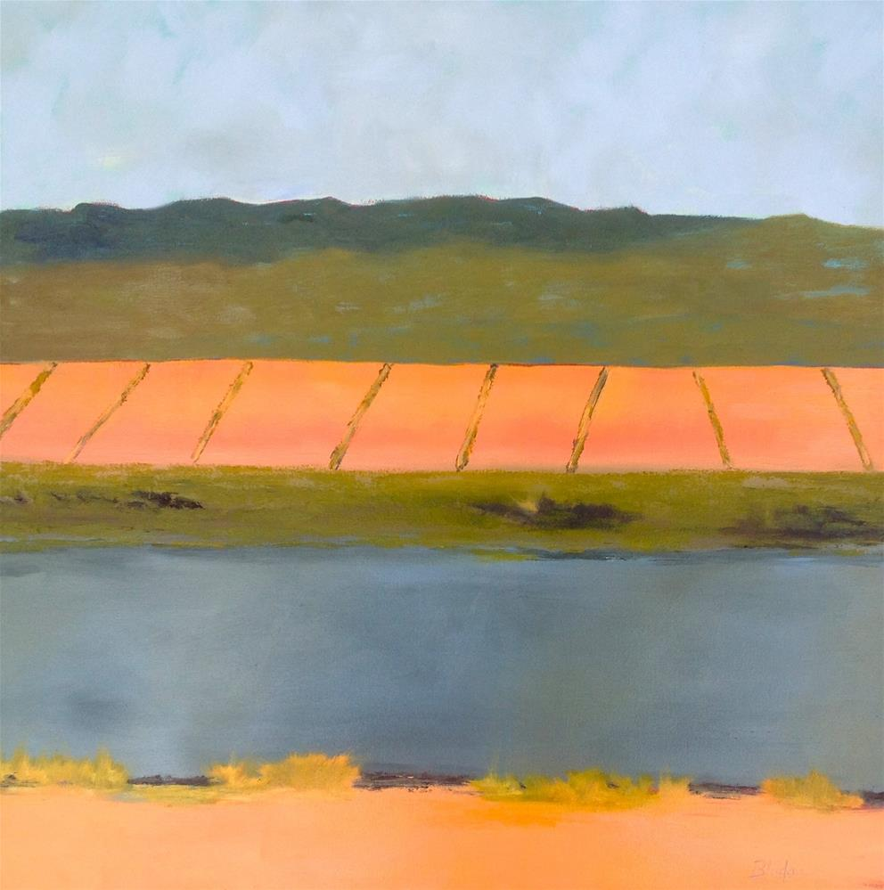 """Farmlands 4"" original fine art by Janet Bludau"