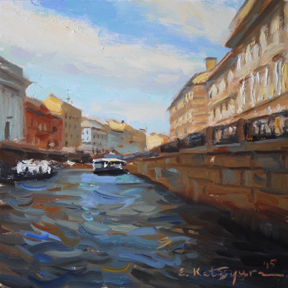 """A St. Petersburg Canal"" original fine art by Elena Katsyura"