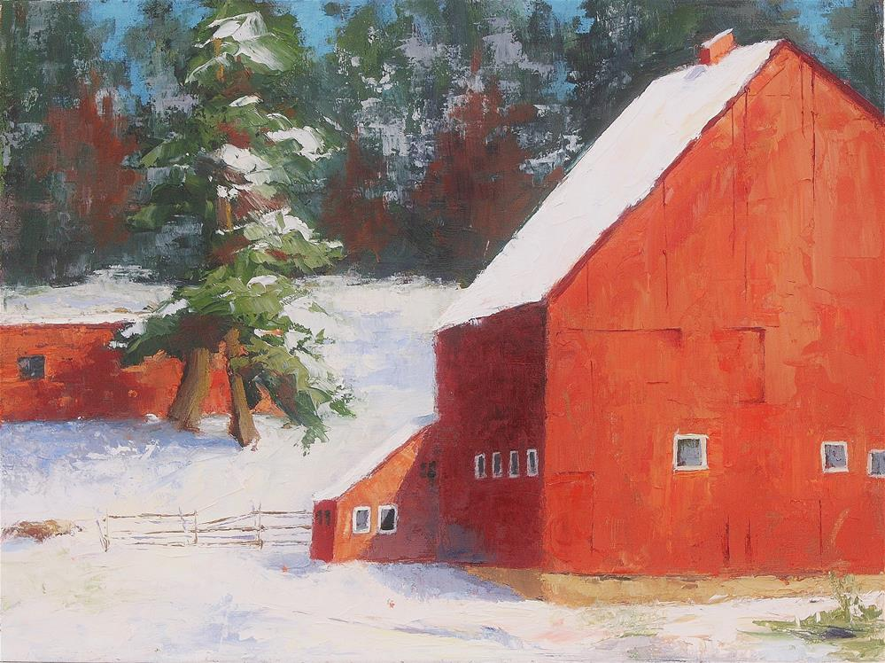 """Fred's Barn"" original fine art by Sheila Marie"