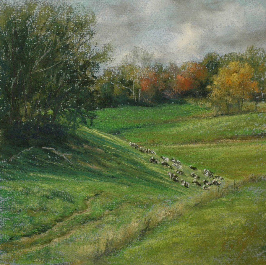 """Cow Trails"" original fine art by Susan Klabak"