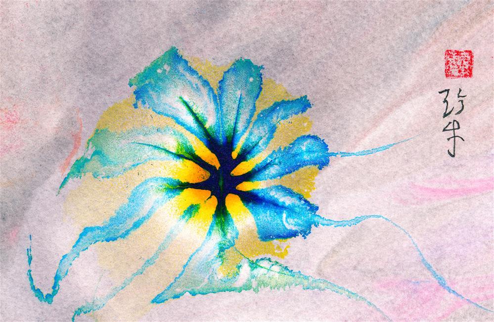 """Illuminated Flower"" original fine art by Janet Gunderson"