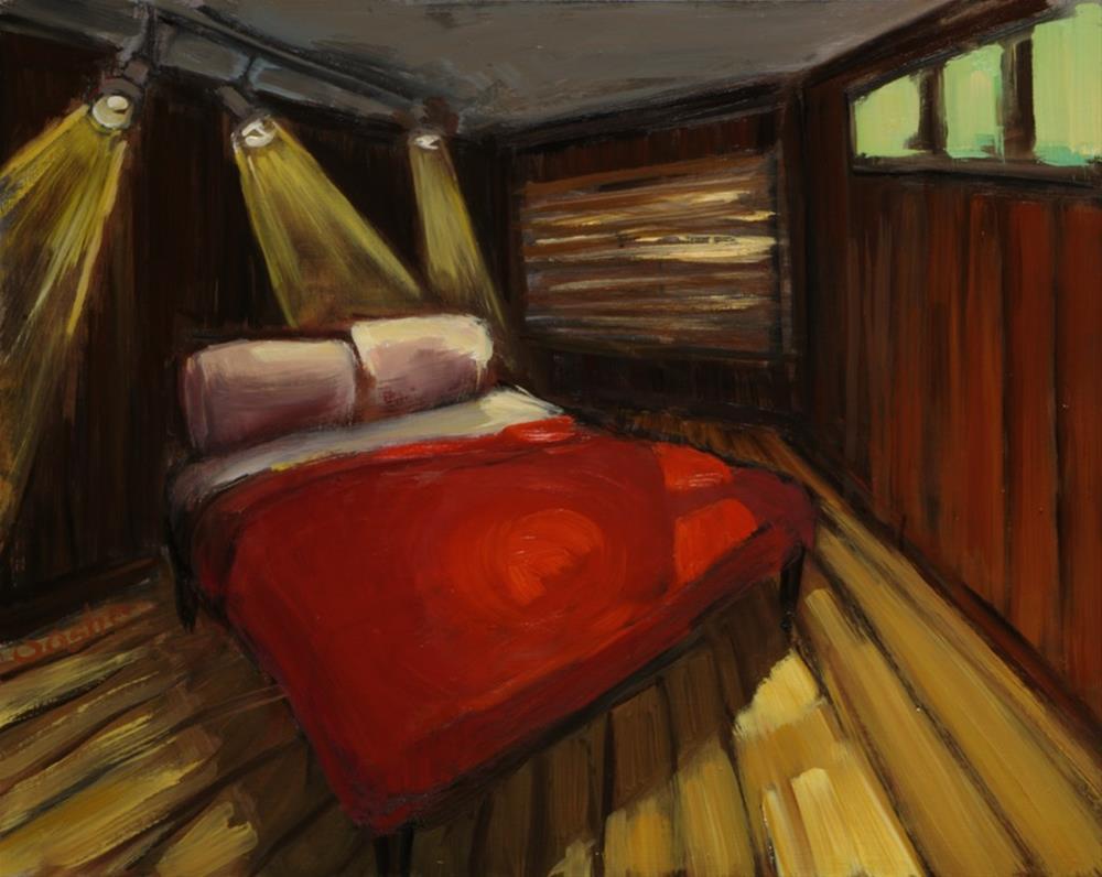 """Bedroom"" original fine art by Angela Ooghe"