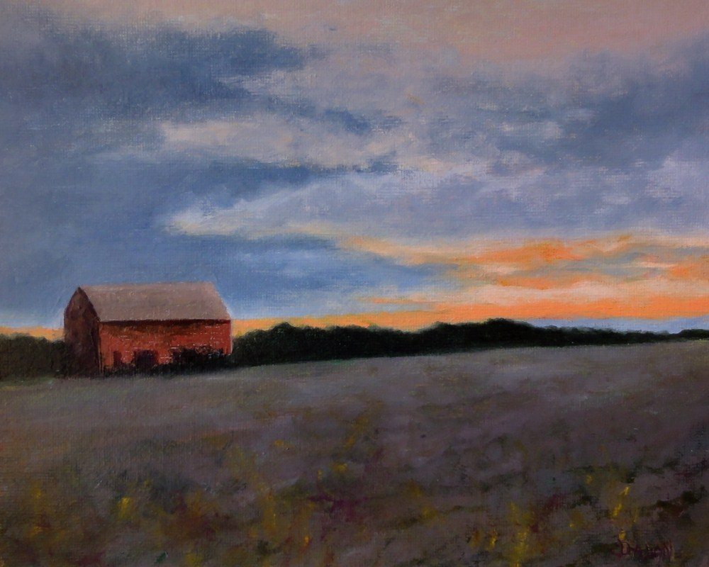 """Sunset After The Plow"" original fine art by Dalan Wells"