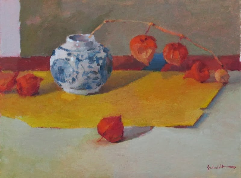 """Leaning Lanterns (Sketch)"" original fine art by Sarah Sedwick"