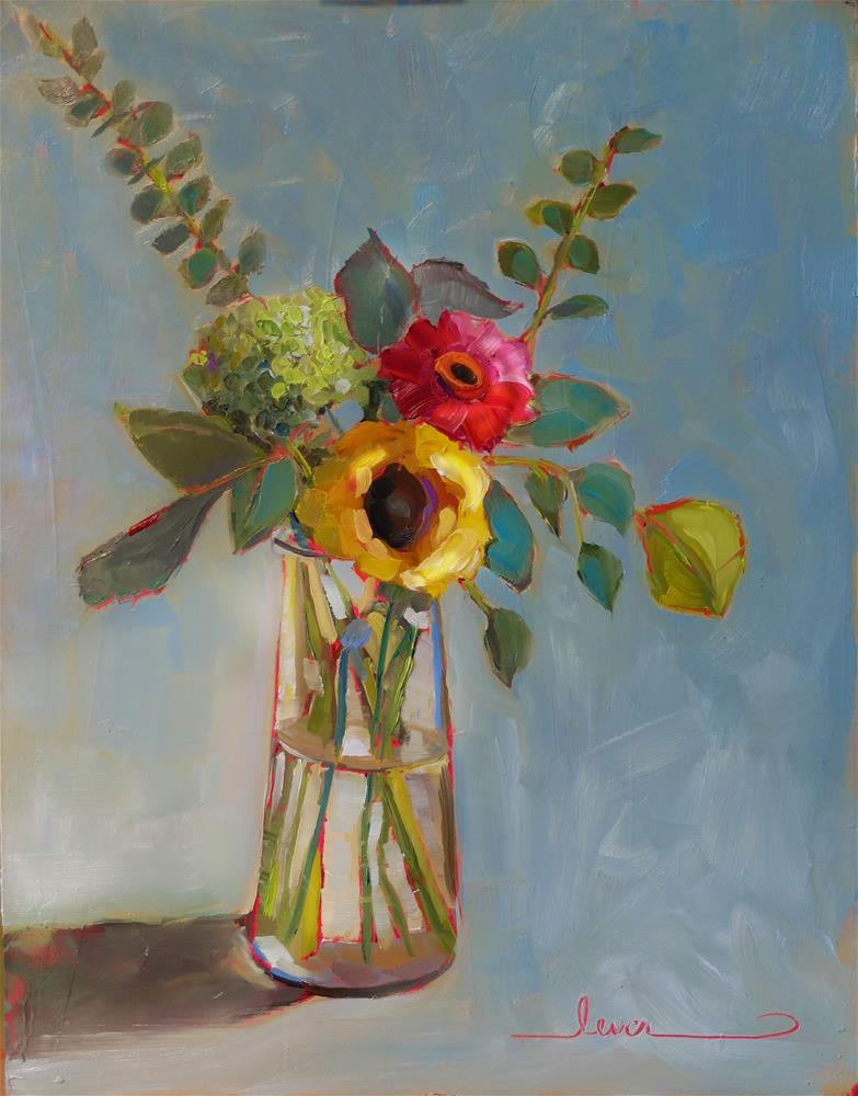 """Tall Vase of Color"" original fine art by Martha Lever"