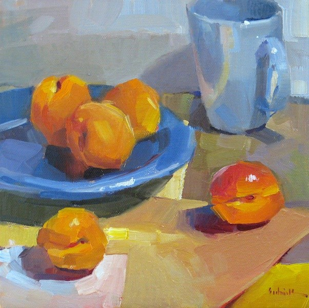 """Happy Apricots"" original fine art by Sarah Sedwick"