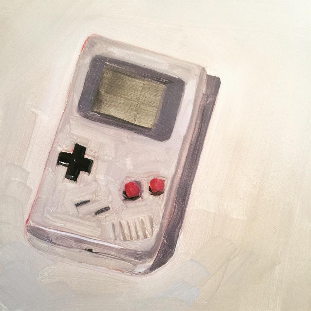 """453 Nintendo Game Boy"" original fine art by Jenny Doh"