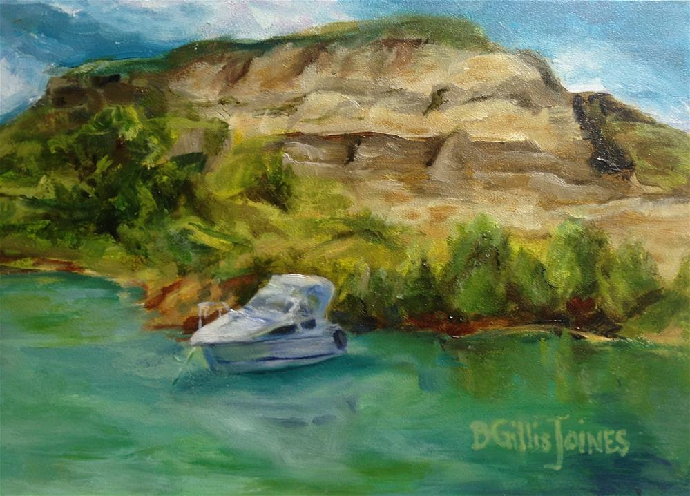"""Secluded Cove"" original fine art by Barbara Gillis Joines"
