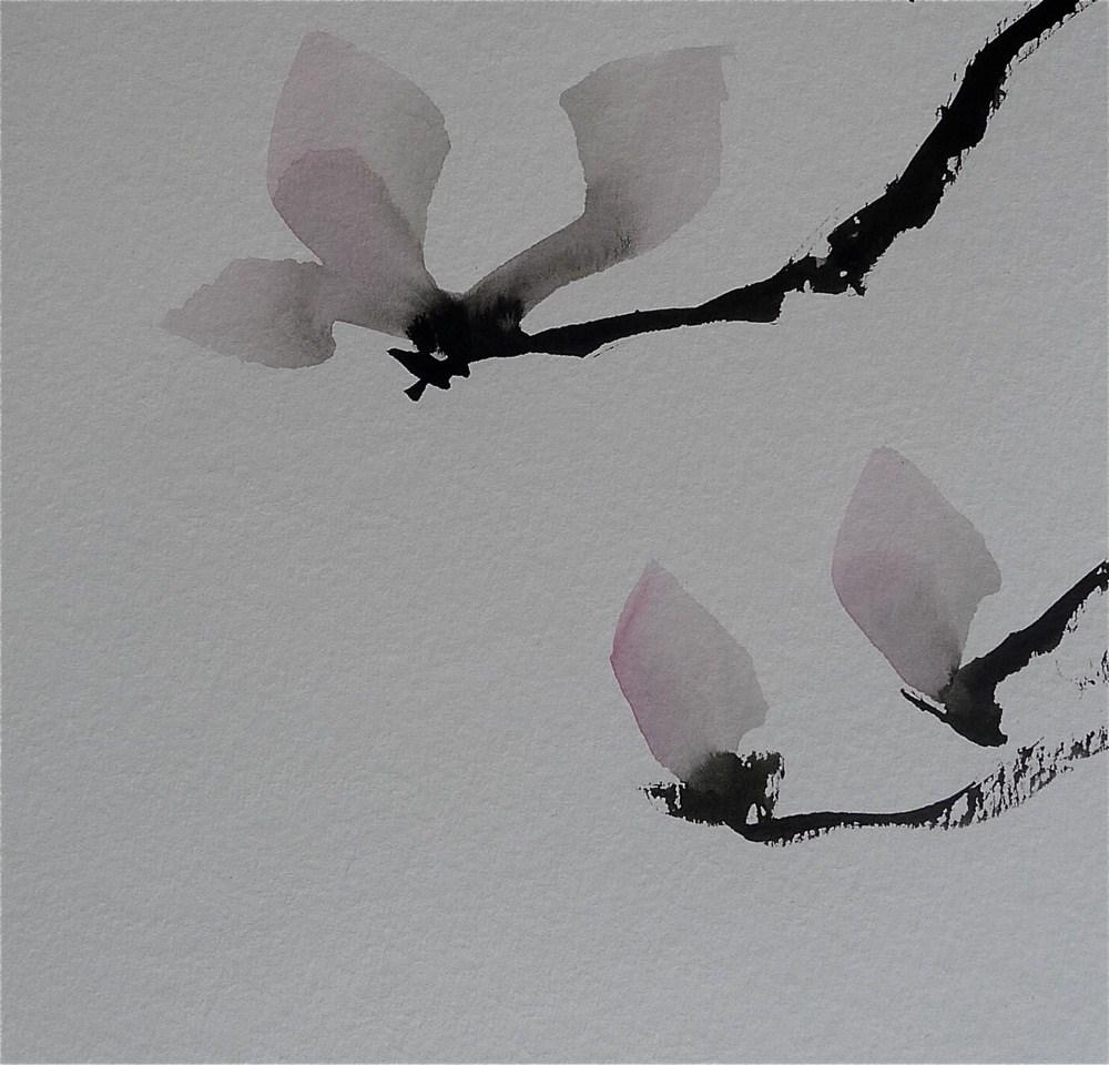 """Three Magnolia"" original fine art by Ulrike Schmidt"