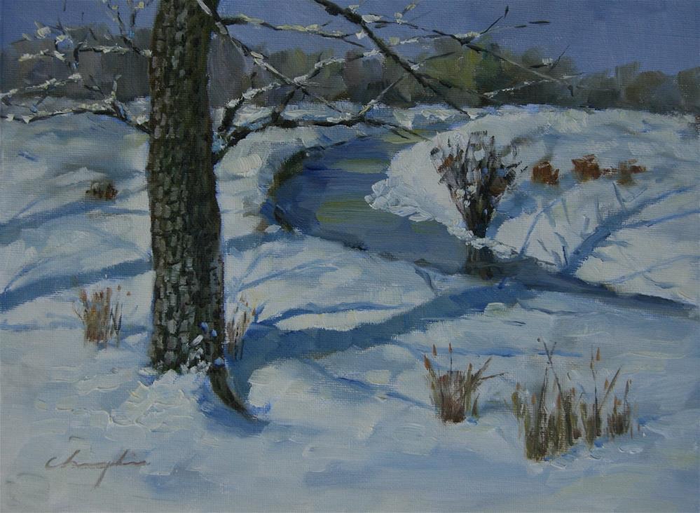 """""""Snow"""" original fine art by Chuang Liu"""