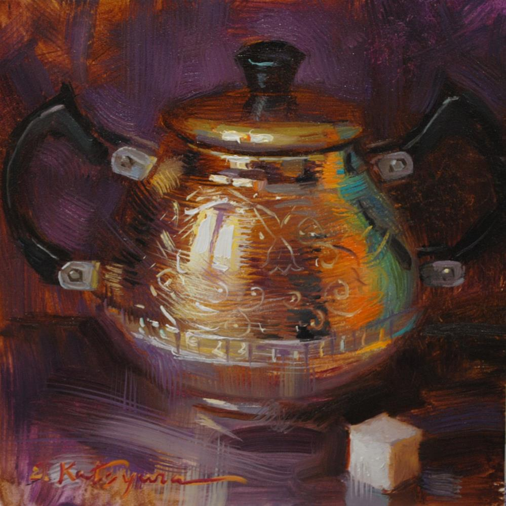 """Silver Sugar Bowl"" original fine art by Elena Katsyura"