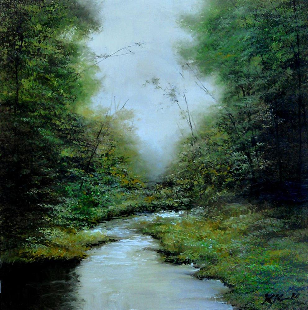 """Morning Mist"" original fine art by Bob Kimball"