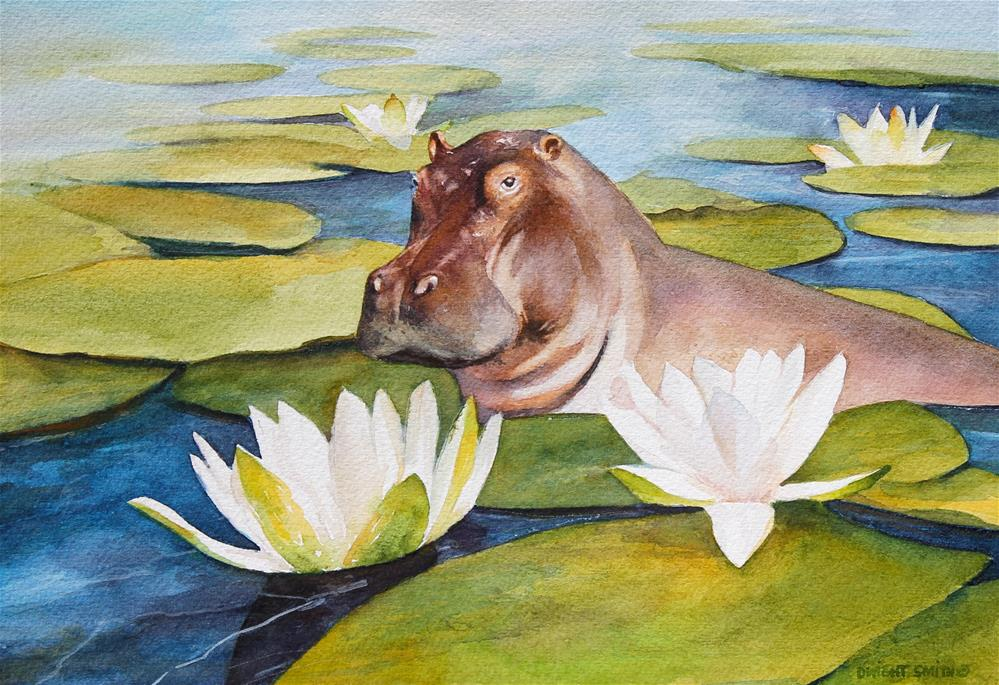 """"""" THE LILY MAID """" original fine art by Dwight Smith"""